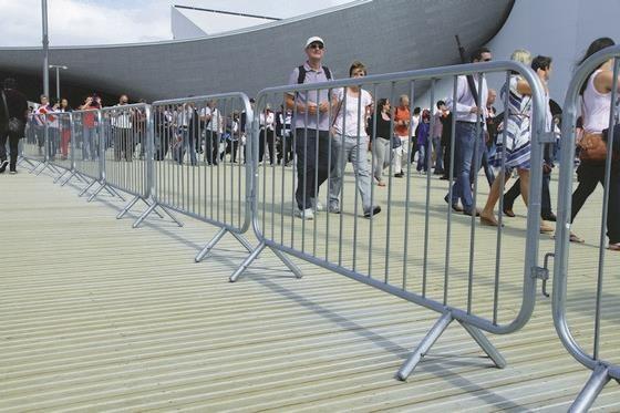 Temporary Pedestrian Barrier Hire